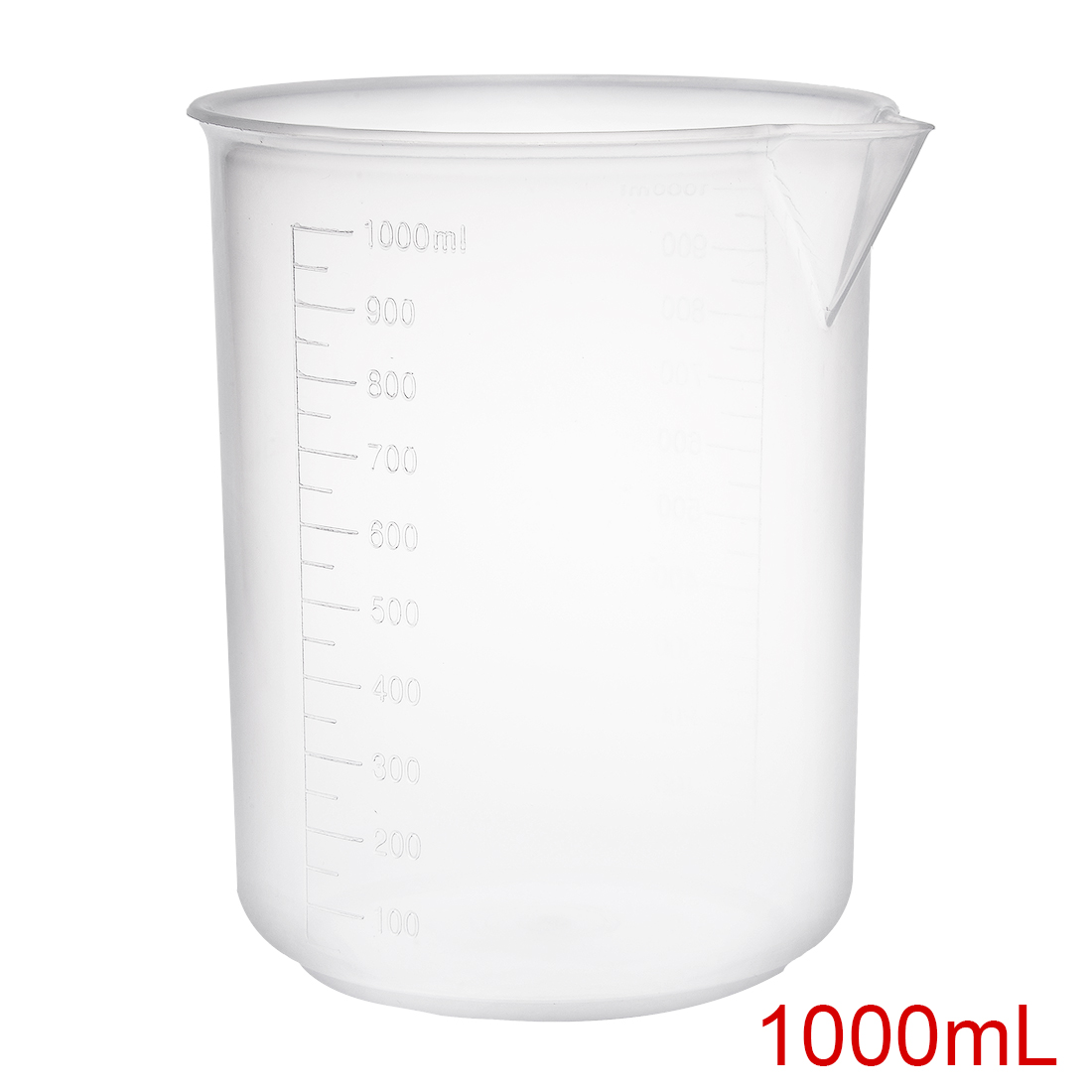 2pcs Measuring Cup Labs PP Graduated Beakers 1000ml by Unique-Bargains