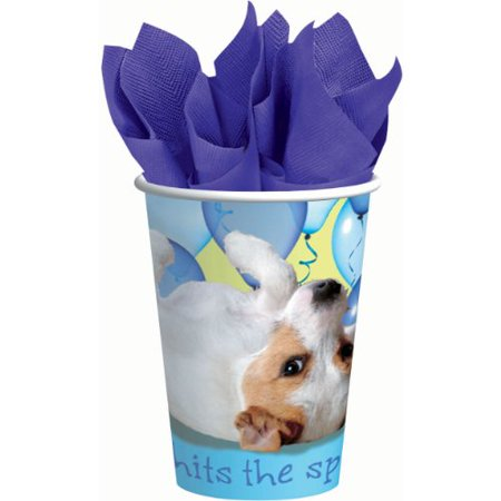 Puppy Party Cups (8-pack) - Party Supplies - Puppy Party Supplies