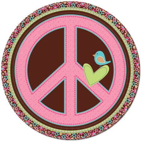 Hippie Chick Large Paper Plates (8ct)