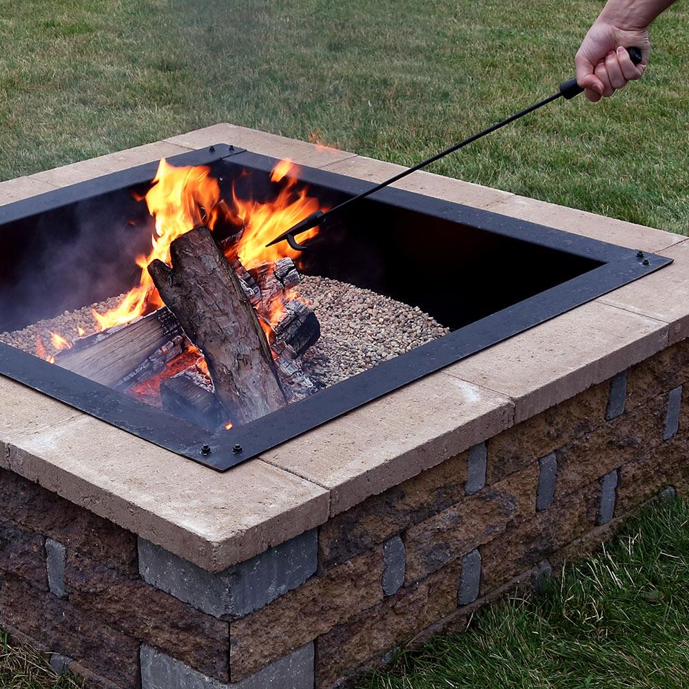 Sunnydaze Large Steel Black Fire Pit Poker, 27 Inch Long