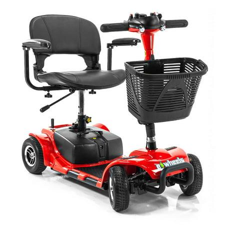 EWheels EW-M34 4 Wheel Mobility Scooter, Easy Transport Travel Mobility Scooter Swivel Seat, Basket