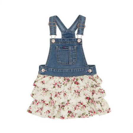 cd3090a4ae Jordache - Toddler Girl Ruffle Floral Denim Skirt-All - Walmart.com
