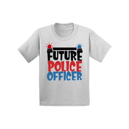 Awkward Styles Future Police Officer Youth Shirt Cute Birthday Gifts Kids Police Shirts Funny Future Job Tshirts for Boys Funny Future Job Tshirts for Girls Themed Party Policeman T shirts for Kids - Girl Themed Parties