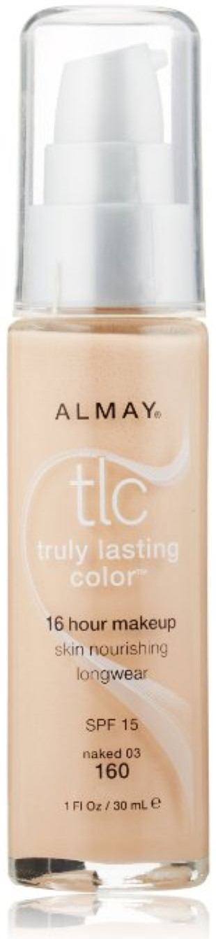 Almay Truly Lasting Color Makeup, 16 Hour, Naked 03 160, 1