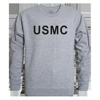 Rapid Dominance RS3-USM-BLK-02 USMC Graphic Crew Neck Sweatshirt, Black - Medium