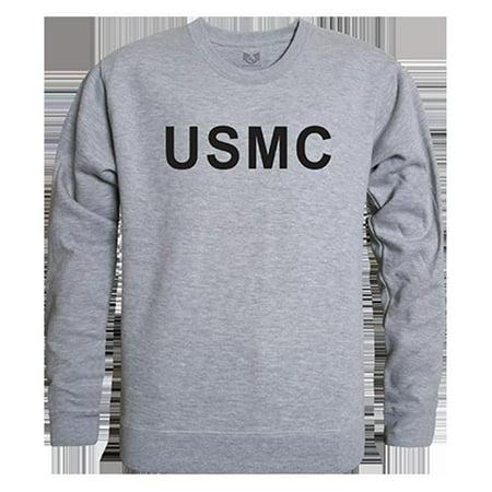 Rapid Dominance RS3-USM-HGY-04 USMC Graphic Crew Neck Sweatshirt, Heather Grey - Extra Large - image 1 of 1