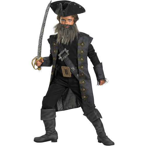 Pirates of the Caribbean Black Beard Deluxe Child Halloween Costume