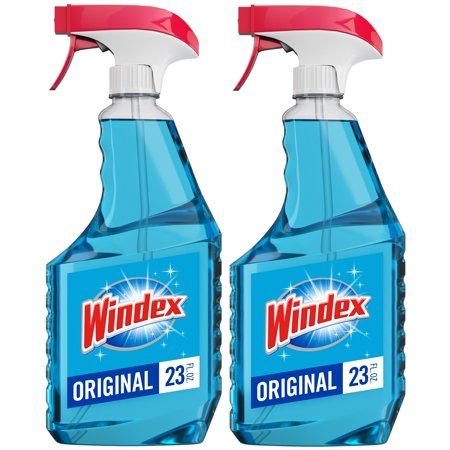 - Windex Glass Cleaner Trigger Bottle, Original Blue, 23 fl oz (2 ct)
