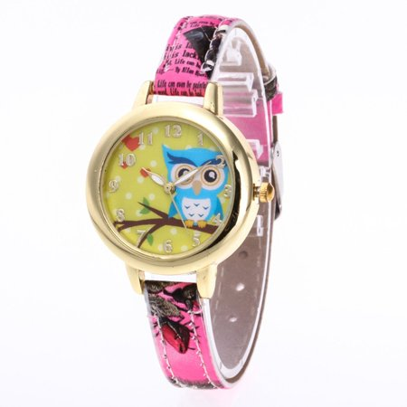 e78707148504 Clearance Sales☆ Fashionable Women Owl Floral Printed Wrist ...
