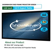 """Zimtown 120"""" 16:9 Fixed Frame Projector Screen Home Theatre HD 3D 4K Projection 105 x 59"""