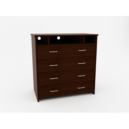 Ameriwood Home 4 Drawer Media Chest