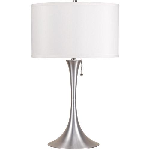 Ore International Inc. Retro Table Lamp, Brushed Silver