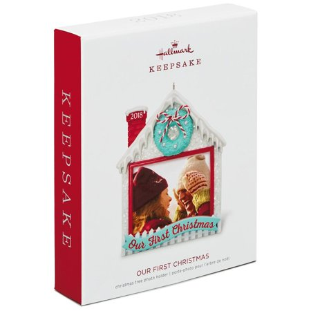 Hallmark Keepsake 2018 Our First Christmas Photo Ornament (Hallmark Ornament First Christmas)