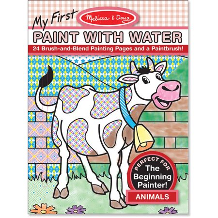 Melissa doug my first paint with water coloring book animals 24 painting pages