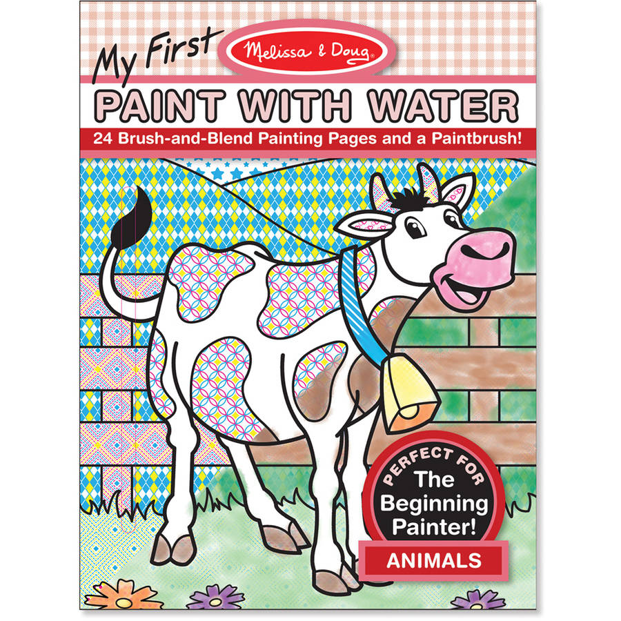 Melissa Doug My First Paint With Water Coloring Book Animals 24