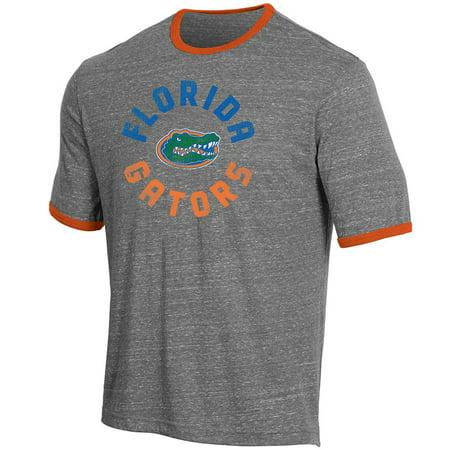 Florida Gators Heather (Men's Russell Heathered Gray Florida Gators Athletic Fit Crew Neck Tri-Blend)