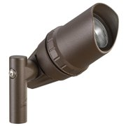 "Kichler 15397 3"" Architectural Mini Accent Light For Mr11 Or Mr16 Lamps - Bronze"