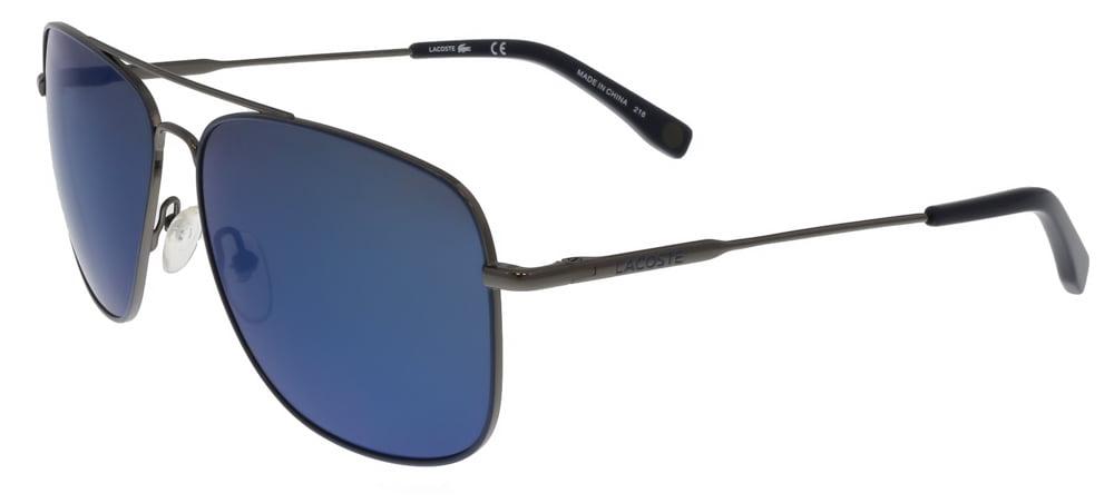 fff5f1435f2 Lacoste - Lacoste L175 S 033 Gunmetal Aviator sunglasses Sunglasses -  Walmart.com