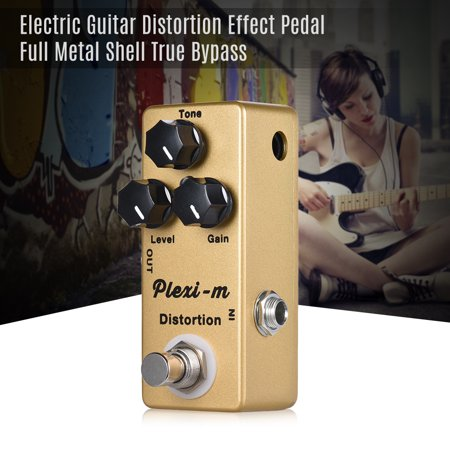 MOSKY Plexi-m Electric Guitar Distortion Effect Pedal Full Metal Shell True Bypass (Ts808 True Bypass)