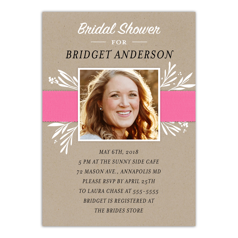 Personalized Wedding Bridal Shower Invitation - Simply Said - 5 x 7 Flat