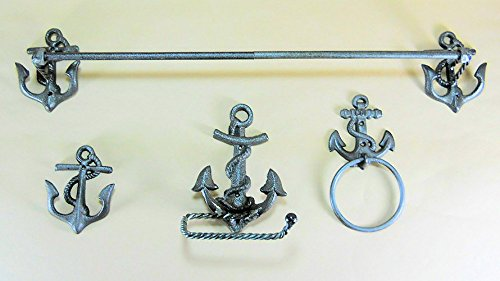 Nautical Anchor Bathroom Accessory Set By COI