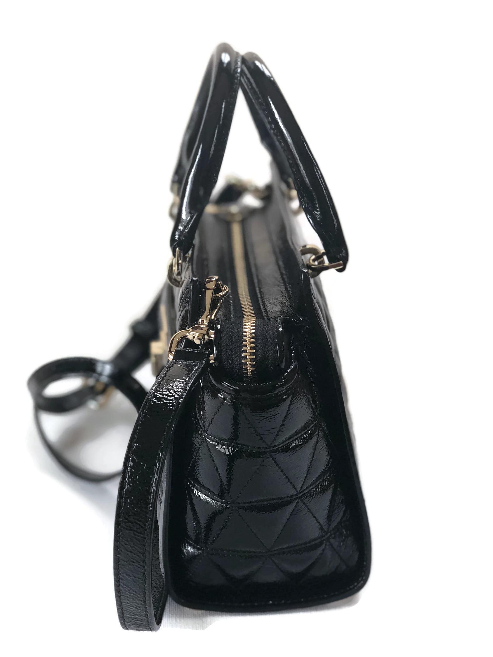 de7f044653 MICHAEL Michael Kors Vivianne Small Shoulder Messenger Patent Leather  Handbag Messenger - Black - Walmart.com