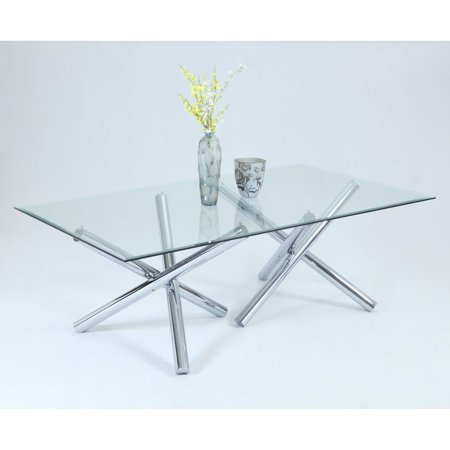 Chintaly Leatrice Rectangular Gl Dining Table