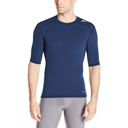 - Adidas Men's Training Techfit Base Shirt, Collegiate Navy