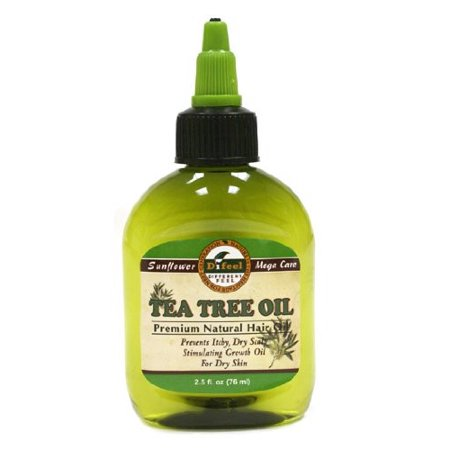 Sunflower Premium Mega Hair Oil, Tea Tree, 2.5 Fl