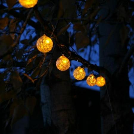 Image of Allsop Home and Garden Aurora Glow Solar 6 Light Globe String Light