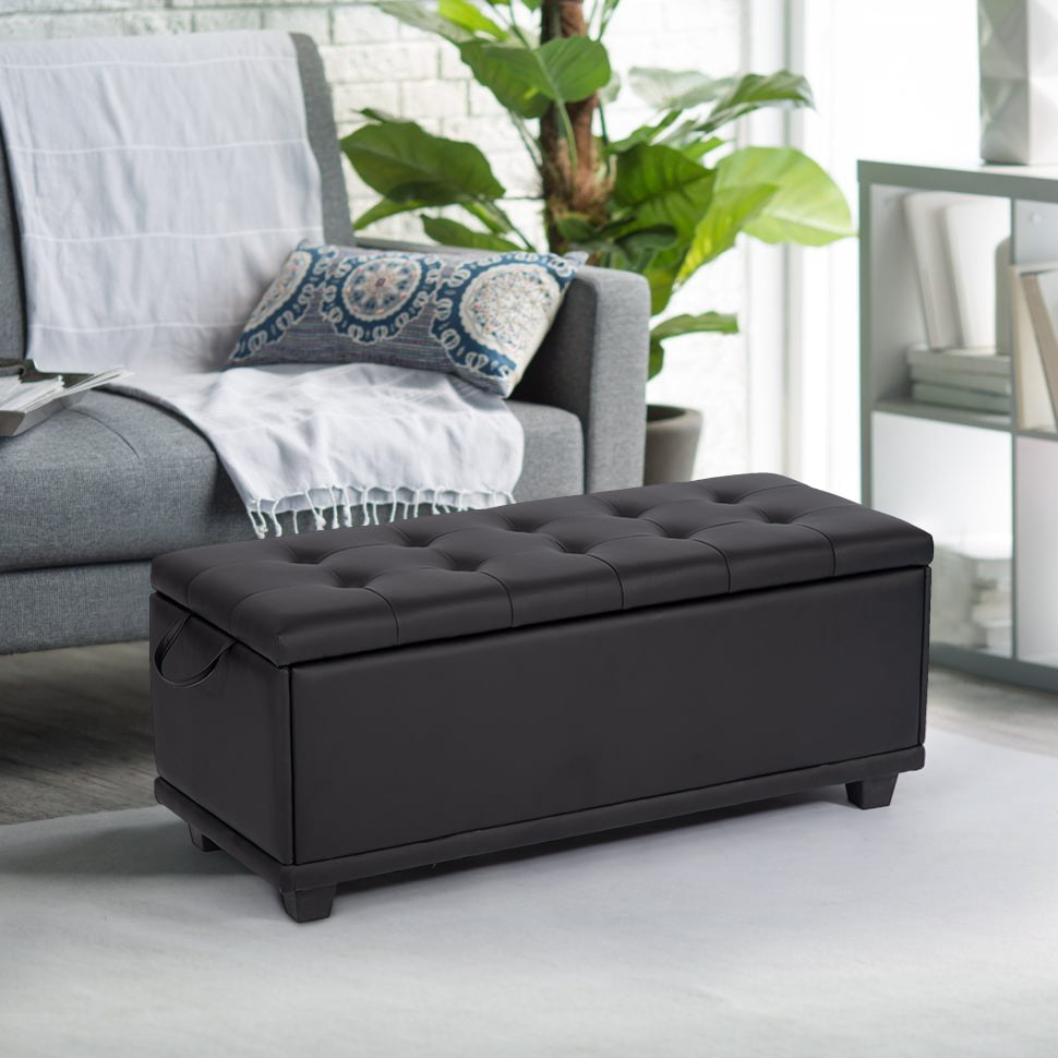 Ottoman Bench Storage Bedroom Bench Footrest Upholstered