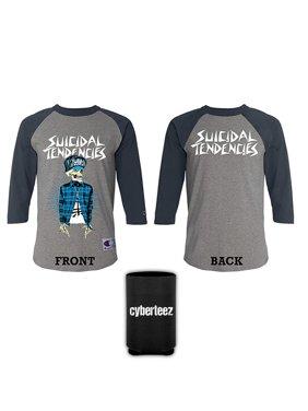 7da5192a Product Image Suicidal Tendencies Vato Gray Longsleeve Baseball Jersey T- Shirt + Coolie (S). Cyberteez