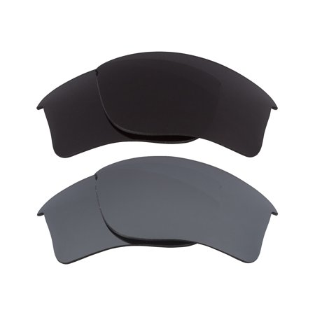 0242ecad75 Seek Optics - Flak Jacket XLJ Replacement Lenses Black   Silver by SEEK  fits OAKLEY Sunglasses - Walmart.com