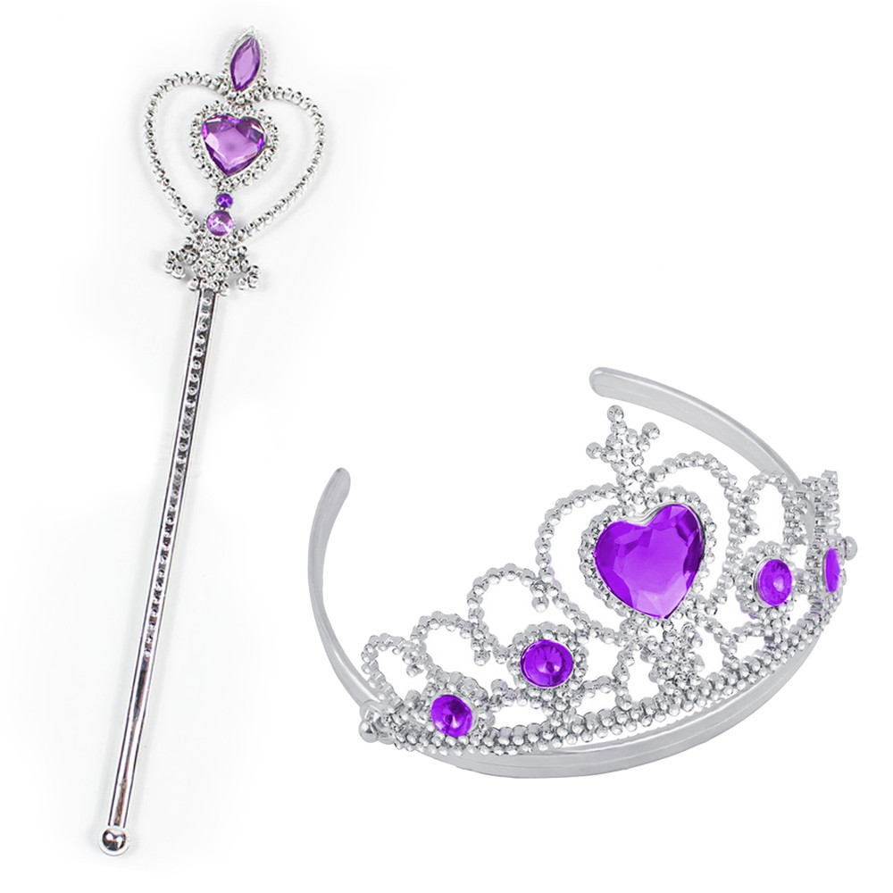 2pcs Party Accessories Girl Queen Princess Halloween Cosplay Holiday Party Toy