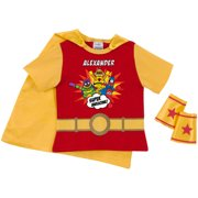 Personalized Yo Gabba Gabba Super Awesome Toddler Super Tee and Cuff Set, Red