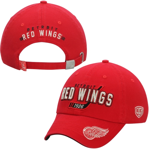 Detroit Red Wings Old Time Hockey Knox Adjustable Hat - Red - OSFA