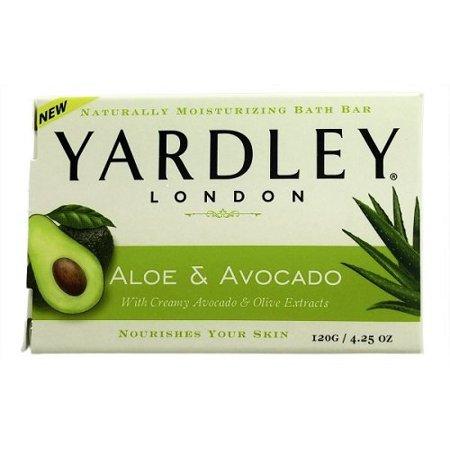 2 Pk Yardley London Moisturizing Bar Fresh Aloe With Avocado Essence 4.25oz - Bc Aloe Essence