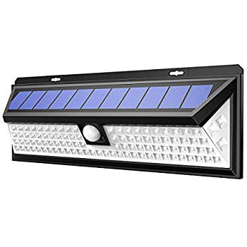 Image of Solar Lights Outdoor, Enhanced 102 LED Super Bright Motion Sensor Wall Lights, IP65 Waterproof, 270° Wide Illumination Angle, Easy Install Security Lights for Driveway, Front Door, Yard etc.