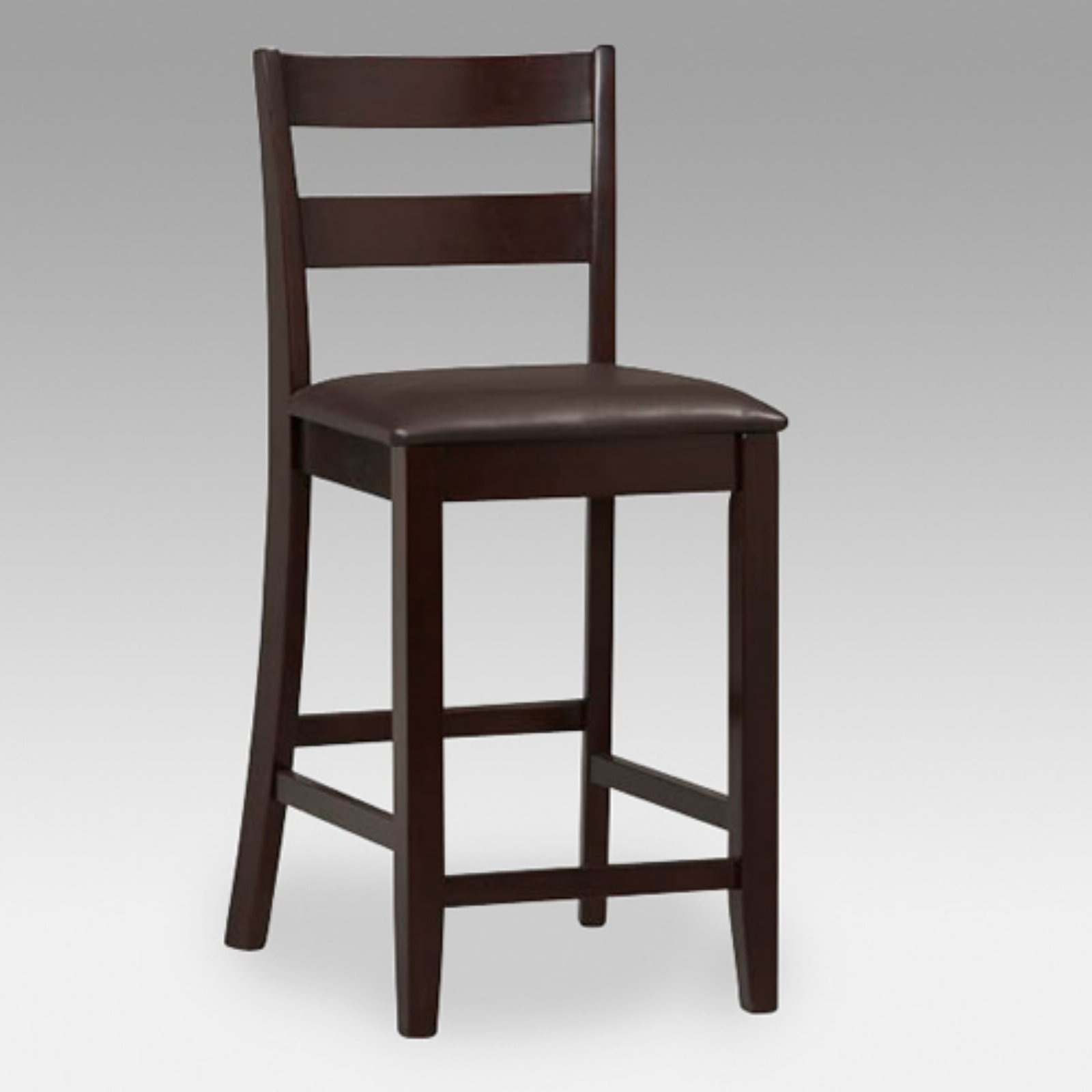Linon Triena Collection Soho Counter Stool, Espresso, 24 inch Seat Height