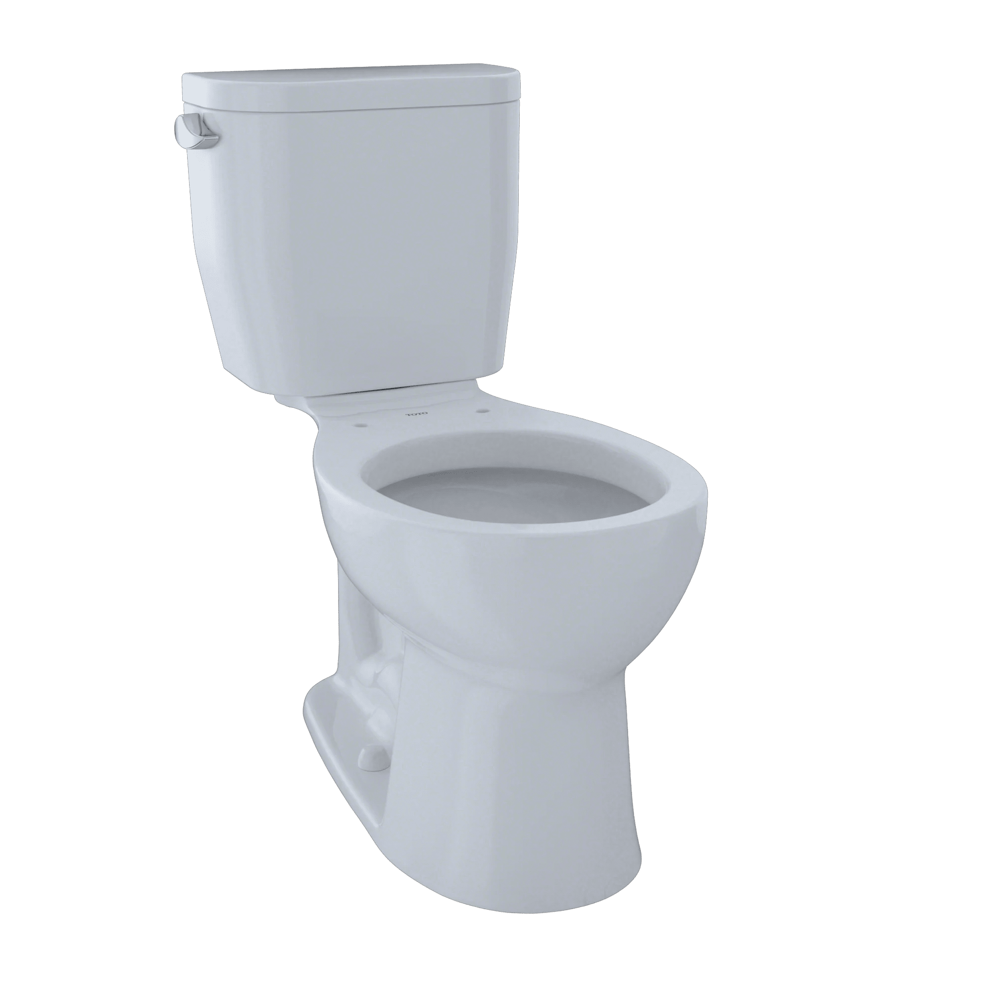 TOTO Entrada Two-Piece Round 1.28 GPF Universal Height Toilet, Cotton White CST243EF#01 by Toto