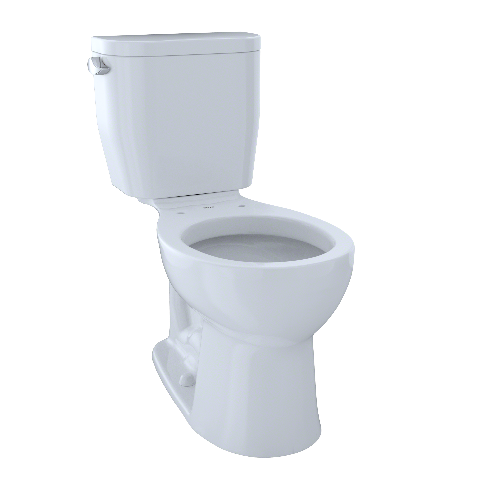 TOTO® Entrada™ Two-Piece Round 1.28 GPF Universal Height Toilet, Cotton White - CST243EF#01