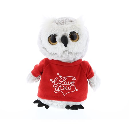 Super Soft Plush Dollibu Owl I Love You Shirt Valentines Plush
