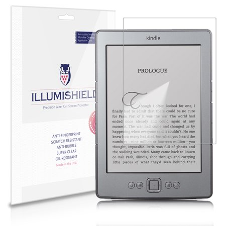 iLLumiShield Anti-Bubble/Print Screen Protector 3x for Amazon Kindle Touch