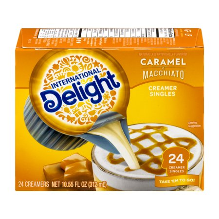 International Delight Caramel Macchiato Non Dairy Coffee Creamer Singles 24 Ct  Box