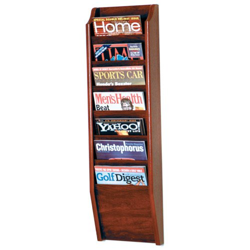 7-Pocket Wall Magazine Rack