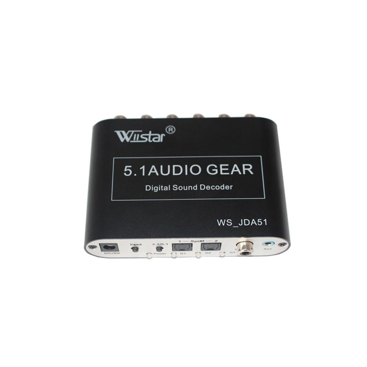 5.1 Audio Rush Digital to Analog Decoder Converter Optica...