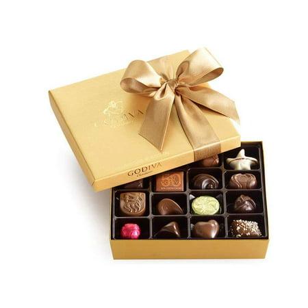 Godiva Chocolatier Classic Gold Ballotin Chocolate, Perfect Hostess Holiday Gift, 19 - Godiva Chocolate Wine