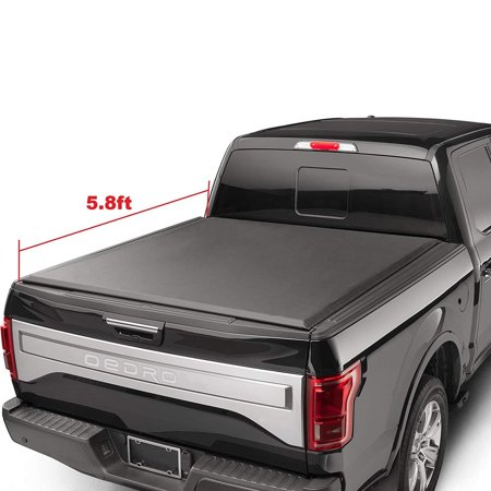 oEdRo TRI-FOLD Truck Bed Tonneau Cover for 2014-2018 Chevy Silverado/GMC (Best Folding Tonneau Cover For Silverado)