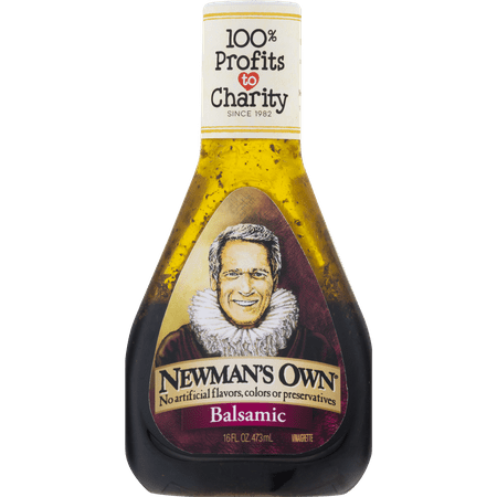 (2 Pack) Newman's Own: Balsamic Vinaigrette, 16 Oz Roasted Vinaigrette Salad