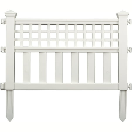 - Suncast Grand View Fence, 3-Pack, White GVF243PK